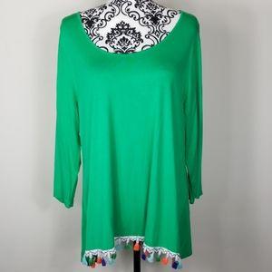 NWT Women's B.L.E.U XL Green Tunic